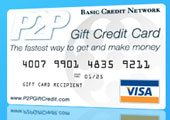 P2P Gift Credit Cards