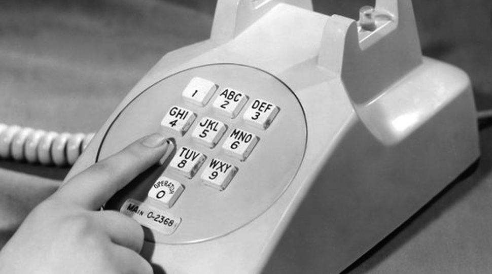 1960s phone button layout