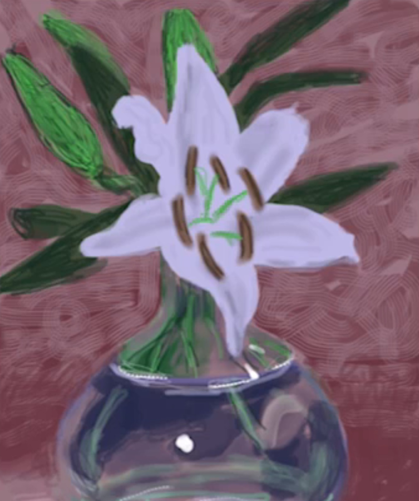 David Hockney iPad Flowers