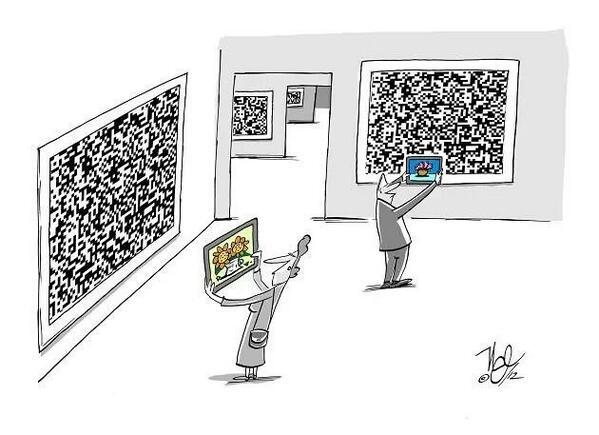 Tablet and QR code, the museum of the future