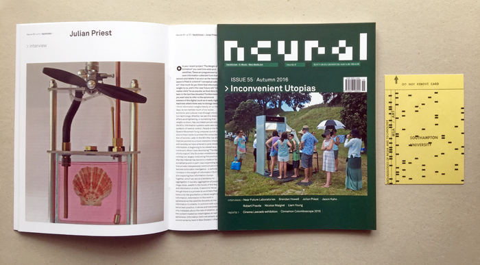 Neural 55 cover and postcard AMT