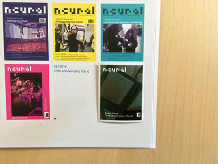 Neural 62 extra: 25th anniversary cover sticker